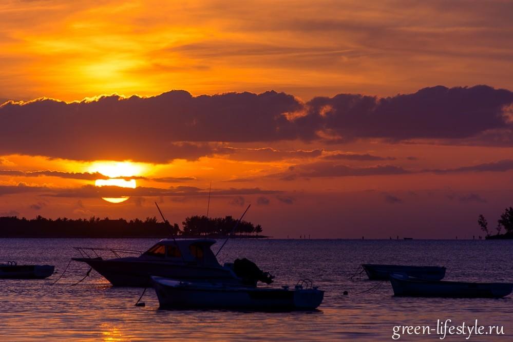 закаты на острове Маврикий