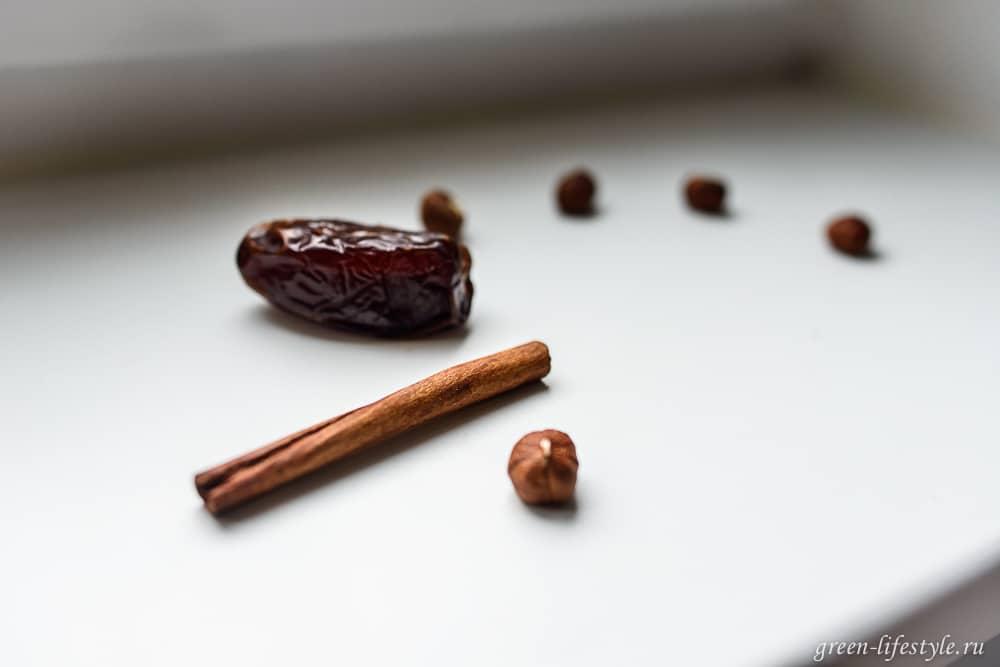 Горячий шоколад из орехов