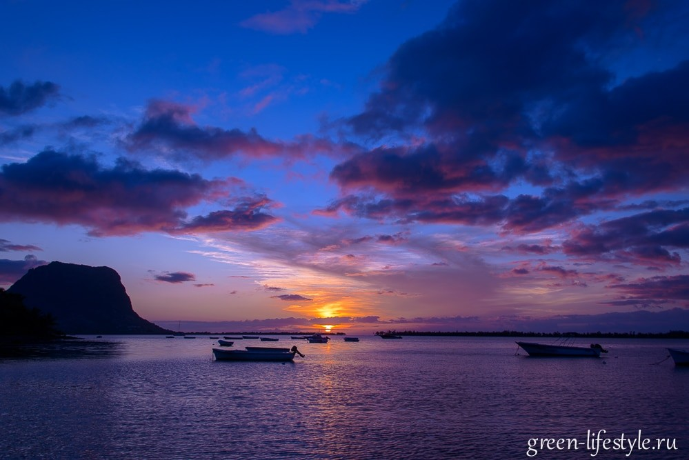 Закаты на острове Маврикий. Сансет-пост
