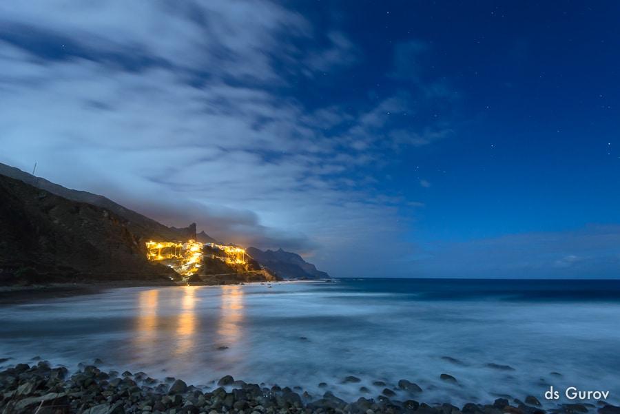 в поисках места для съёмки звёзд у моря