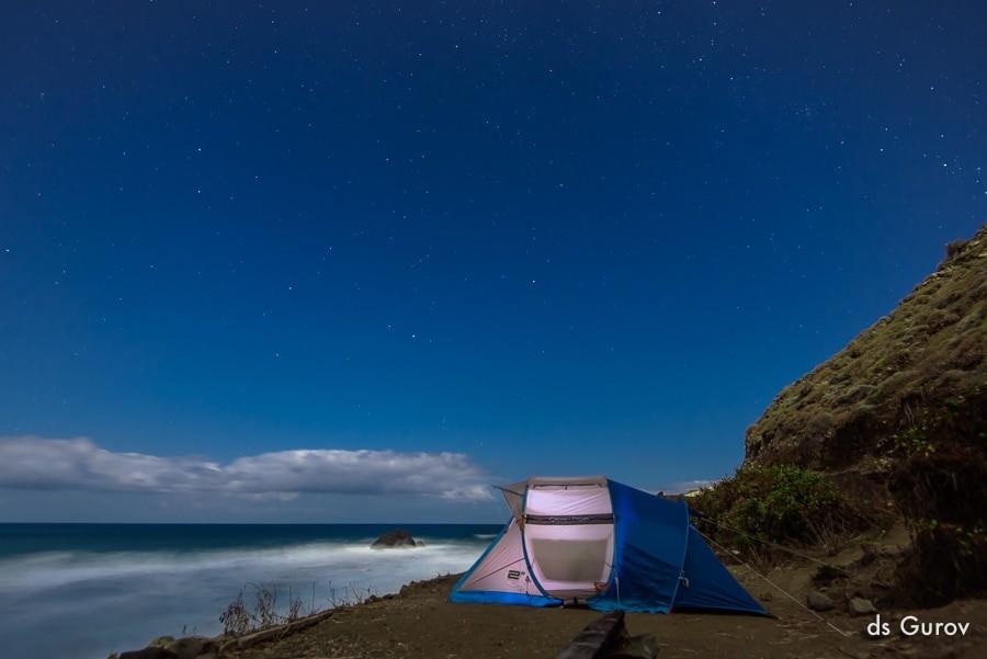 фото звёзд и палатка