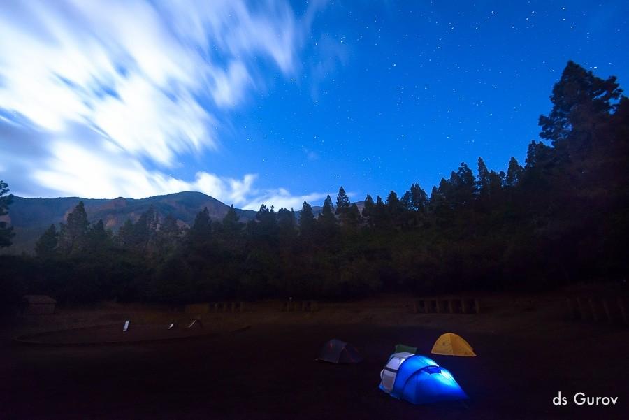 ночуем в палатке