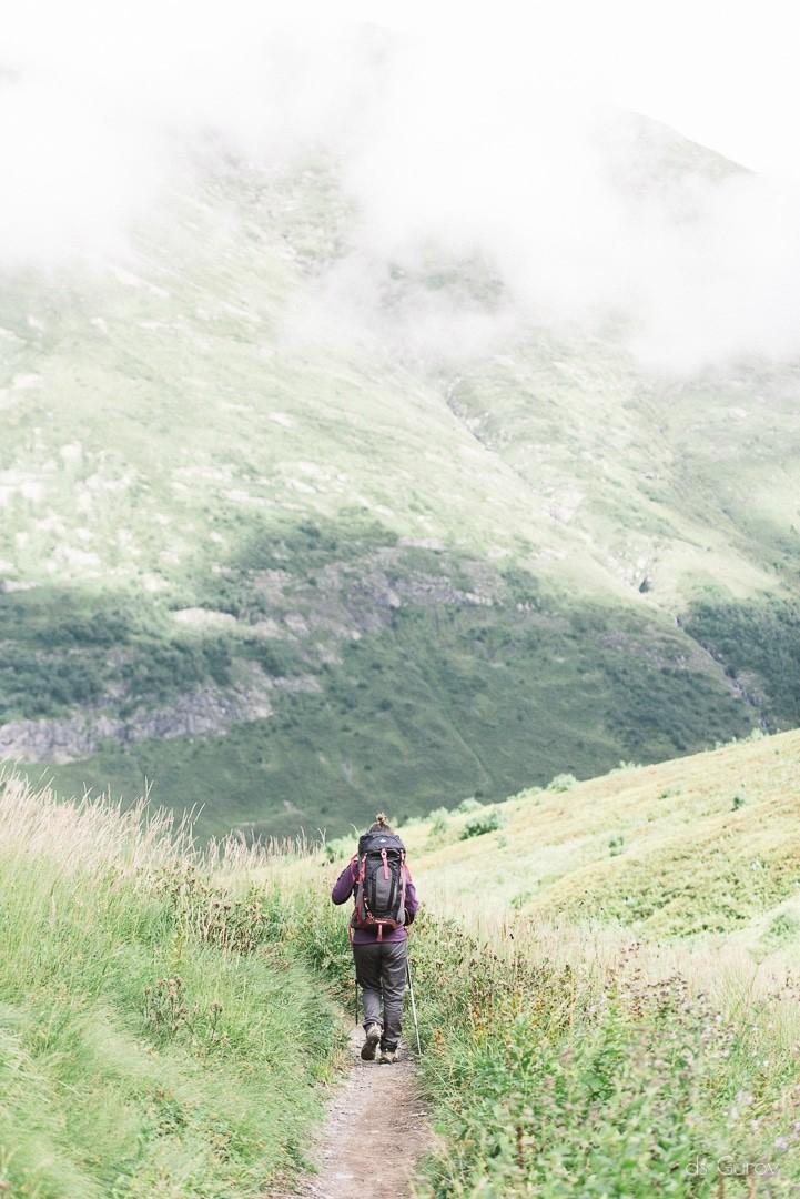 Настя в горах