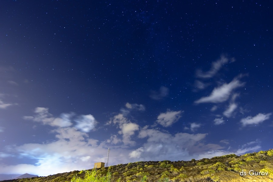 правильная выдержка при фотографировании звёзд