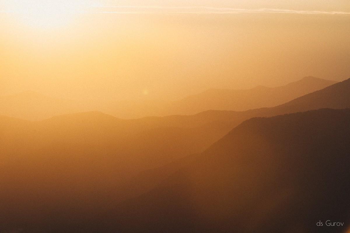 закат в красной поляне